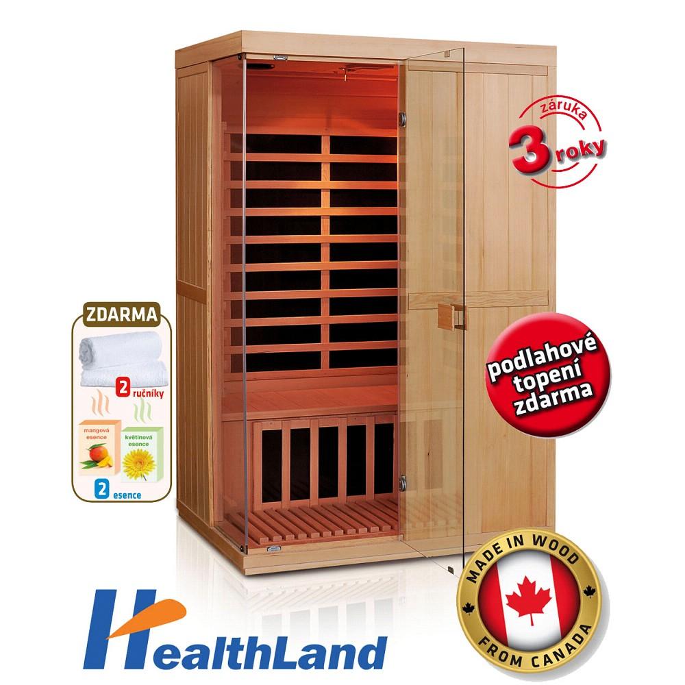 HealthLand DeLuxe 2200 Carbon - BT infrasauna
